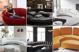 Round Leather Sofa