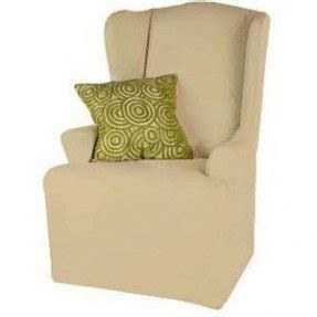 Bon Small Wingback Chair Slipcover T Cushion Canvas Soft Weave Linen