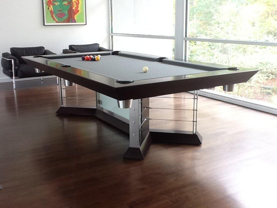 Stainless Steel Pool Tables Modern Game Tables