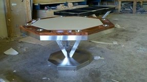 Vue poker table by mitchell exclusive billiard designs modern game