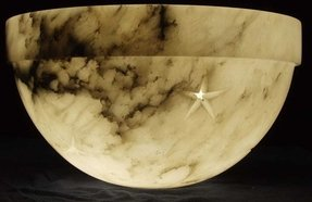 Alabaster lamp shade foter alabaster lamp shade 6 aloadofball