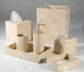 Bath accessories marble travertine bathroom sets mike and ally palazzo
