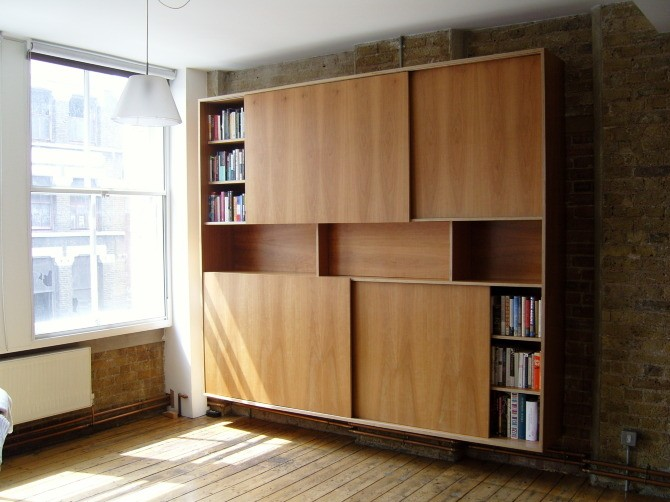 Attirant Bookcase Sliding Doors   Ideas On Foter