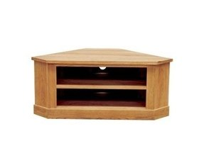 Brooklyn oak low corner tv unit the brooklyn oak low