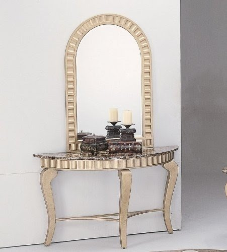Buy low price 2pc entry way console table mirror set & Entryway Table And Mirror Sets - Foter