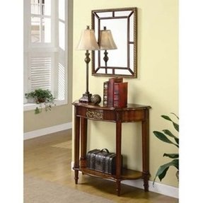 Entry Way Table And Mirror Set