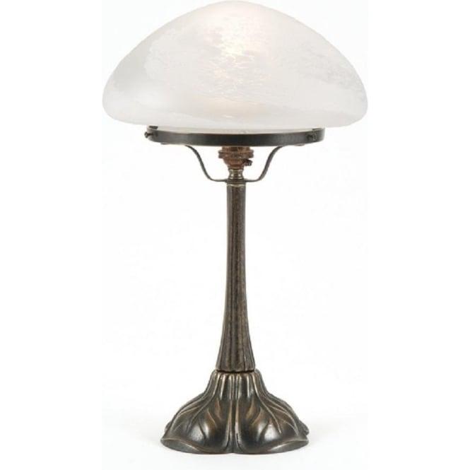 Flossie Table Lamp White Mushroom Alabaster Shade