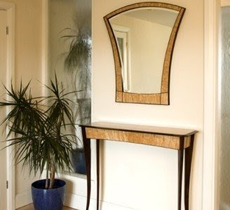 Foyer Console Table And Mirror Set 1