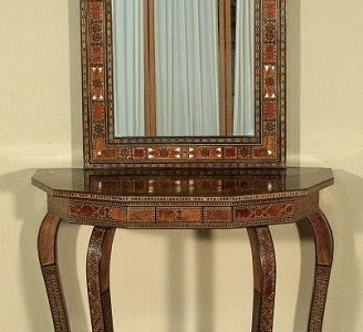 Foyer Console Table And Mirror Set 2
