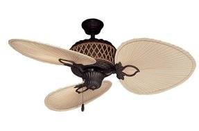Palm frond fan blades foter gulf coast palm bay tropical ceiling fan w 3 natural mozeypictures Choice Image