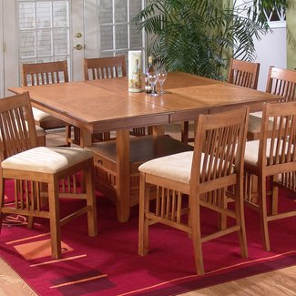 Jofran mission oak counter height table modern dining tables