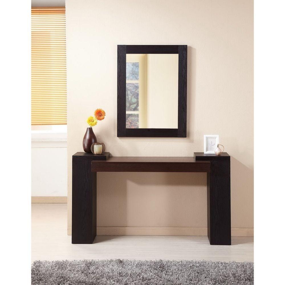 Modal 2 piece sofa table and mirror set  sc 1 st  Foter & Entryway Table And Mirror Sets - Foter
