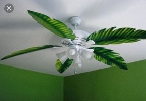 Palm blade ceiling fan