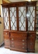 Tall Glass Front China Cabinet