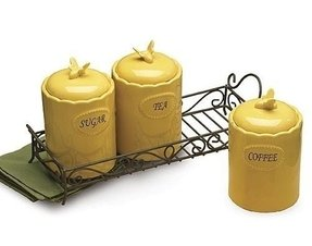 Yellow canister set 2