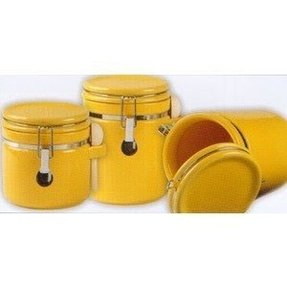 Yellow canister set