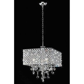Home depot chandeliers foter 4 light square crystal chandelier aloadofball Gallery
