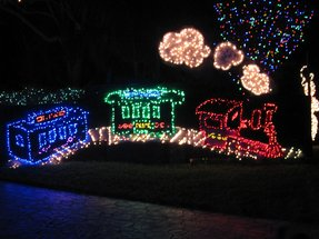 christmas decorations decoration outdoor lighted christmas train
