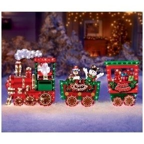 christmas outdoor decor santa express train - Christmas Lighted Horse Carriage Outdoor Decoration