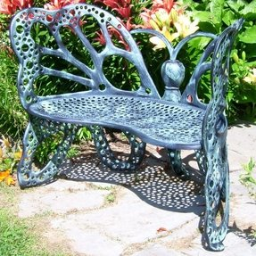 Iron bench outdoor