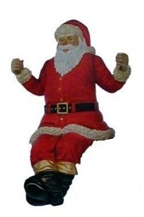 Large life sized sitting santa claus outdoor christmas decorations