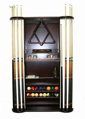Pool cue racks floor