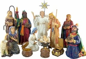 Large Indoor Nativity Sets Foter - Religious articles