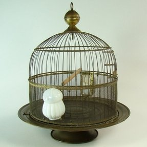 Solid brass hendryx beehive bird cage 1910 1