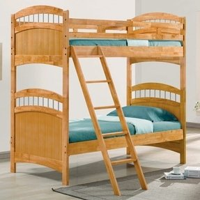 Truckee maple finish twin over twin bunk bed