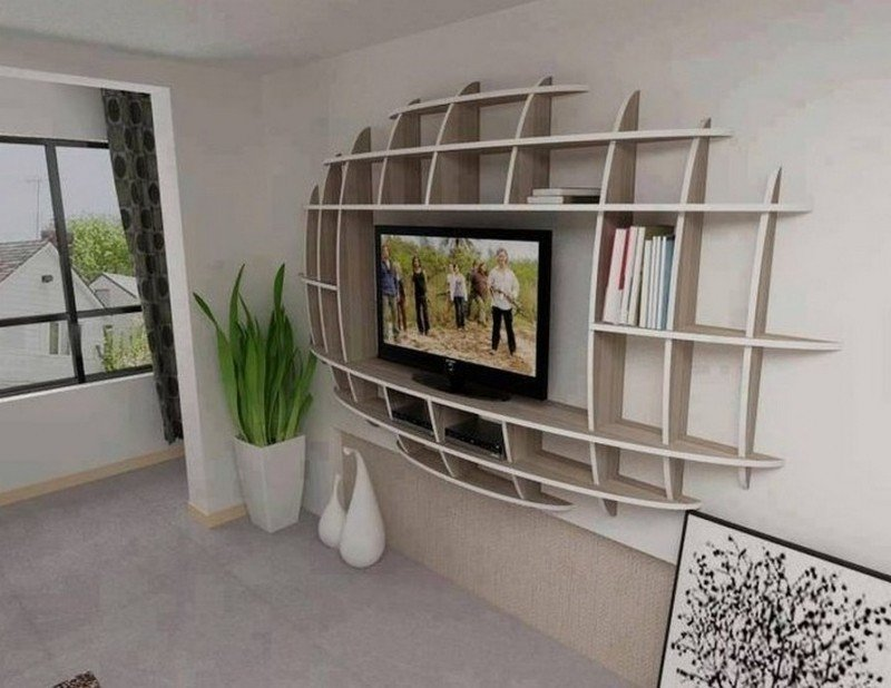 Tv Cabinet For Wall Mounted Flat Screen