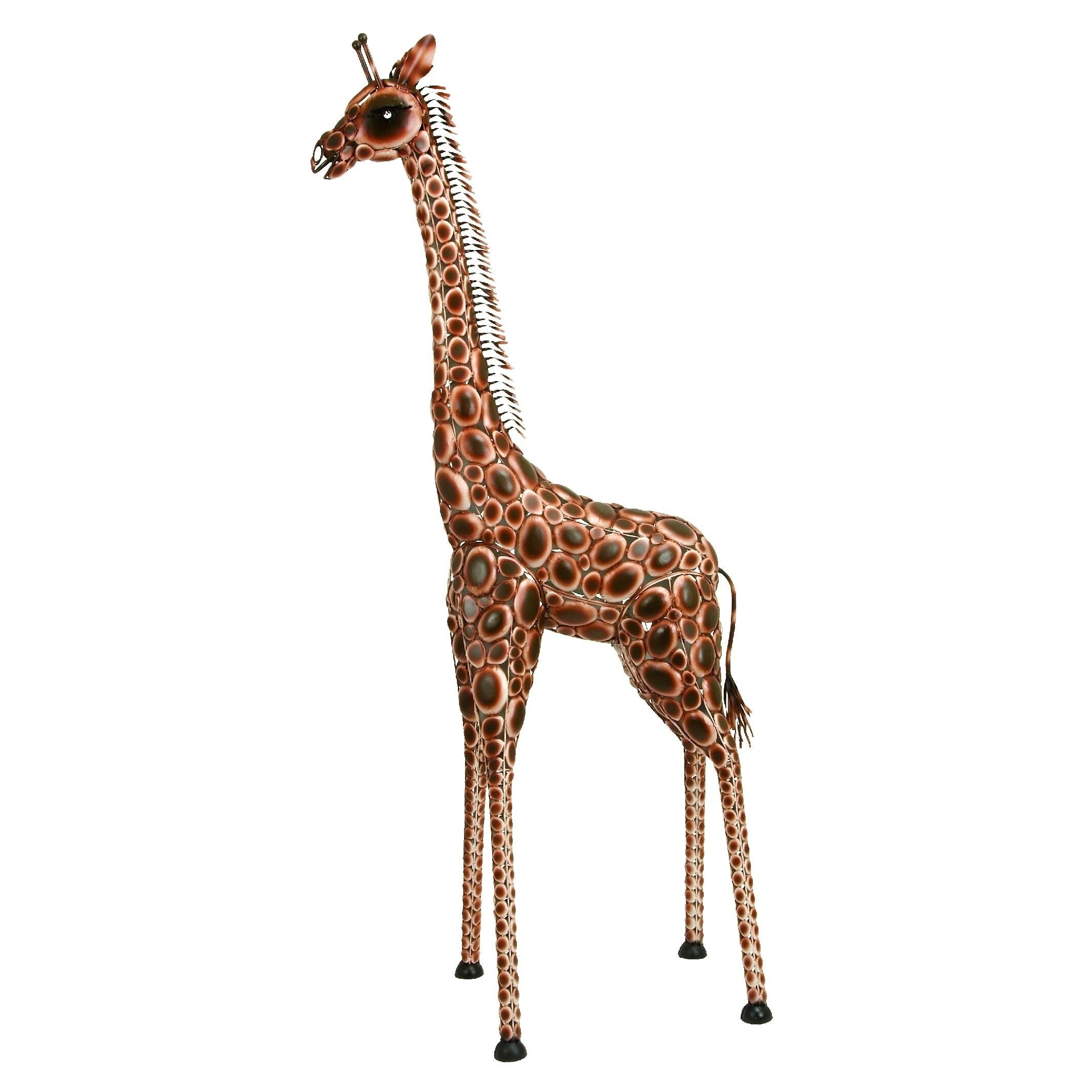 Large wooden giraffe home decor.