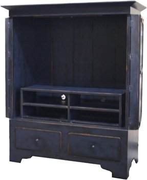 67258 Green Flat Screen Tv Armoire