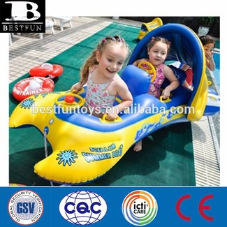 Baby sunshade inflatable float seat boat 2babies twins swimming pool