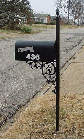 Iron Mailbox Post Foter
