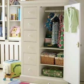 Childrens wardrobe with drawers 4
