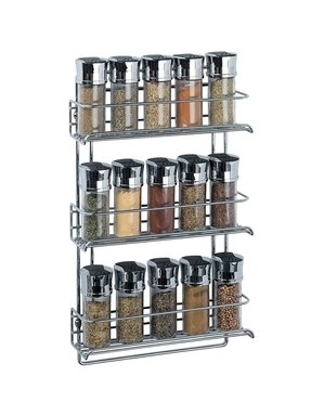 Details about unique spice rack jars food glass bottles organizer