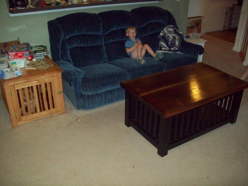 Dog Crate Coffee Table Plans