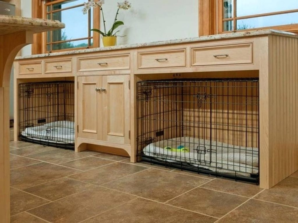 Delightful End Table Dog Kennel Furniture