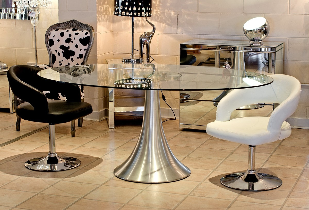 Glass Oval Dining Table 3