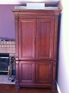 Genial See Larger Image Hooker Cherry Wood Armoire