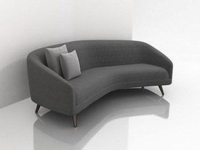 Small curved couch