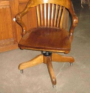 Sold vintage wood office chair h krug furniture co kitchener