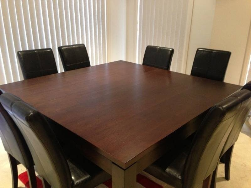 Square Dining Room Table Seats 8 Delightful Dining Table Set