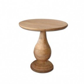 Exceptional West Elm Mango Wood Pedestal Side Table Delivery