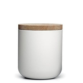 White canisters with wooden lids 6