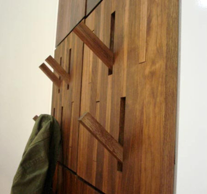 Wooden Wall Mounted Coat Rack