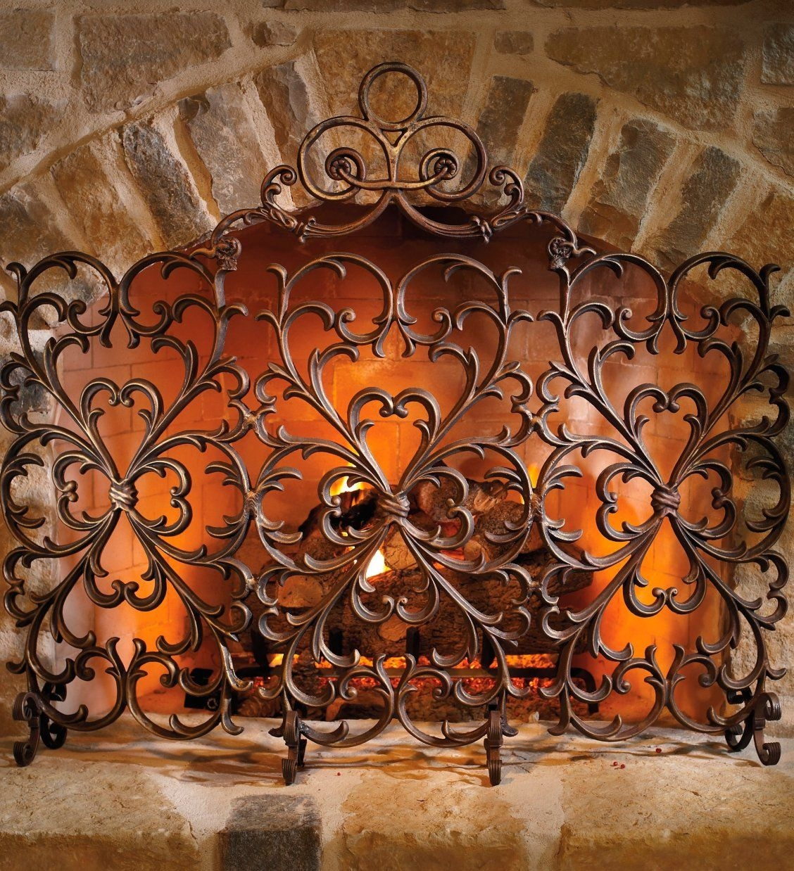 Wrought Iron Fireplace Screens Decorative Fire Screens Jpg