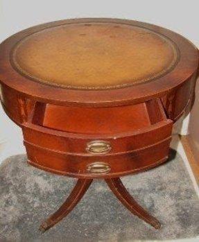 drum tables for sale foter. Black Bedroom Furniture Sets. Home Design Ideas