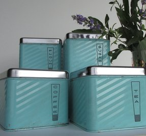 teal kitchen canisters - foter