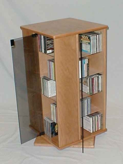 Cd And Dvd Storage Cabinet With Doors Oak Finish 1913